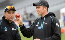 New Zealand bowlers Trent Boult and Tim Southee.
