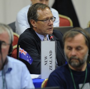 Gerard van Bohemen - pictured during a meeting of the International Whaling Commission in Panama in 2012.
