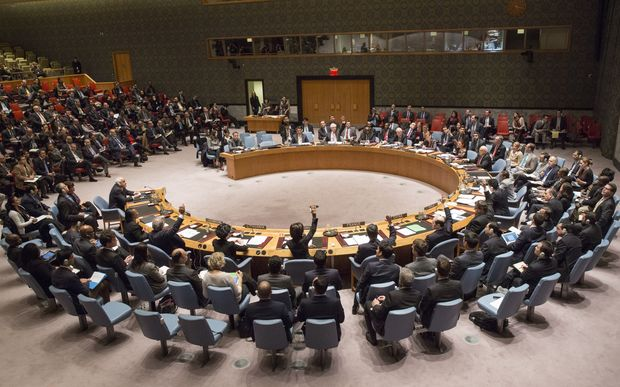The UN Security Council during a meeting on 30 December 2014 in New York.