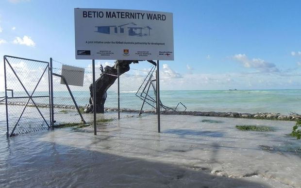 Big waves rendered disastrous damages to Betio Hospital in Kiribati, leaving it flooded with seawater and in a disarrayed state.