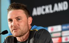 Brendon McCullum during a press conference at Eden Park.