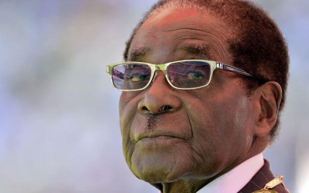 A picture taken on August 22, 2013 shows Zimbabwean President Robert Mugabe attending his inauguration and swearing-in ceremony at the 60,000-seater sports stadium in Harare.