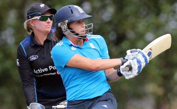 Natalie Sciver hits runs for England