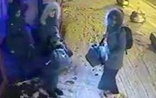 CCTV pictures show the three girls at a bus station in Istanbul