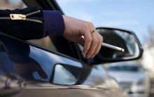 A health promoter said 100,000 children were exposed to second-hand smoke in cars each week.