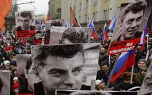 Thousands march in Moscow in memory of Boris Nemtsov.