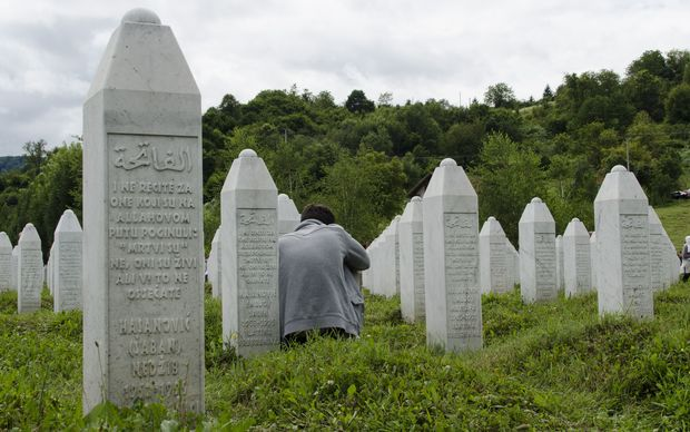 Newly-identified victims of the massacre were buried at Potocari Memorial Cemetery near Srebrenica last year.