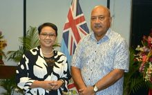 The Foreign Ministers of Indonesia and Fiji, Retno Marsudi and Ratu Inoke Kubuabola