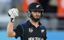 A fist pump is as emotional as Kane Williamson gets on the cricket field.