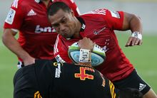 The Crusaders' centre Robbie Fruean playing against the Chiefs.