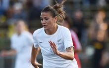 The Football Ferns' Amber Hearn in action.