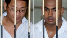 A file photo taken in February 14, 2006 of Australian drug smugglers Andrew Chan (left) and Myuran Sukumaran.