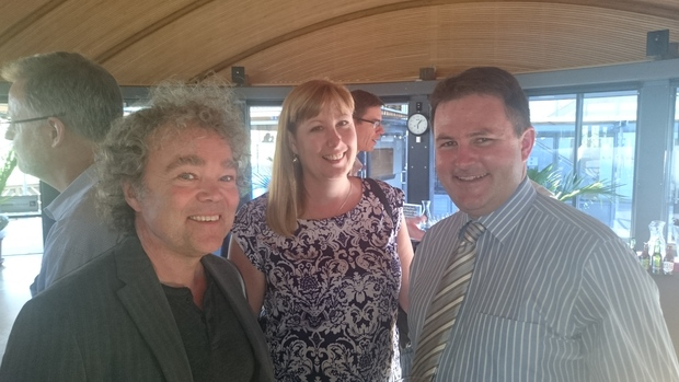 From left to right: Mark Gahegan, Laurie Knight, and Te Pūnaha Matatini director Shaun Hendy.