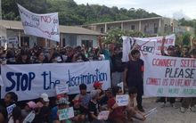 Refugees protesting in Nauru