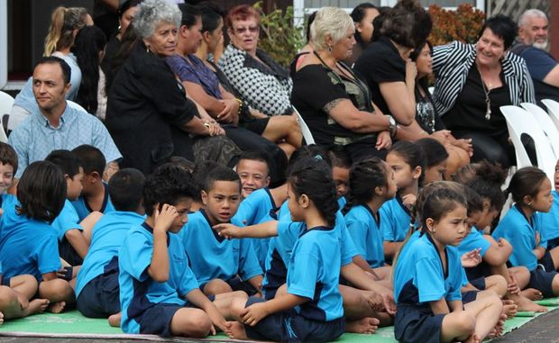 Students at Te Kura Māori o Waatea in their new uniforms.