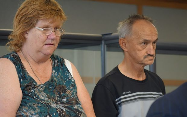 Beverley Sepuloni and Michael Rangi at New Plymouth District Court on 5 March 2015.