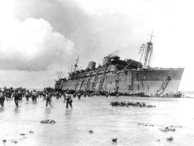 SS President Coolidge US Navy Warship. Sunk during World War II on the 26th of October 1942 in Santo Vanuatu. More than 5300 troops managed to evacuate but two men lost their lives.