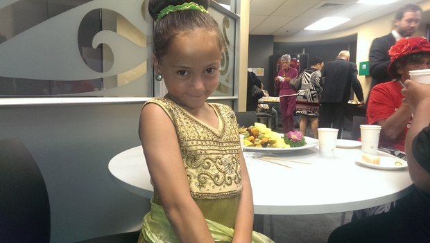 Seven-year-old Kailyn Rapana of Kawakawa was among some of the whanau who attended the hearing.