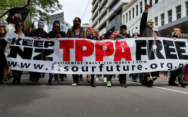 TPPA rally in Wellington