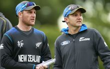 Black Caps captain Brendon McCullum and coach Mike Hesson.