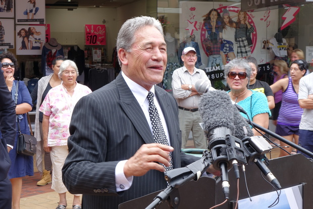 Winston Peters on the campaign trail in Northland