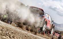 Haydon Paddon - competing at the Mexico round of the WRC.