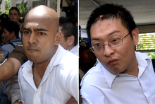 Australian's Myuran Sukumaran, left, and Andrew Chan are on death row in Indonesia.