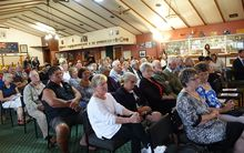Crowd at Kaikohe RSA to meet Northland by-election candidates.