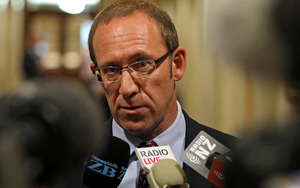 Andrew Little at caucus run this morning.