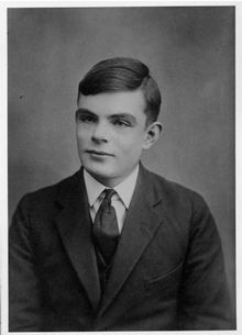 A photo of Alan Turing aged 16