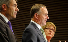 Nathan Guy (left) John Key (middle) Jo Goodhew (right)