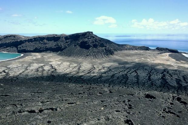 The highest peak of Tonga's newest island is believed to be 250 metres high.