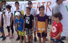 Refugee Asylum Seekers children take part in protest on Nauru
