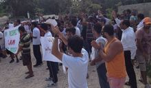 Refugees protest on Nauru