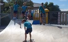 Children at the current skate park