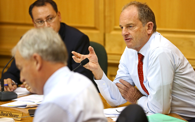 David Shearer at Defence Force select committee.