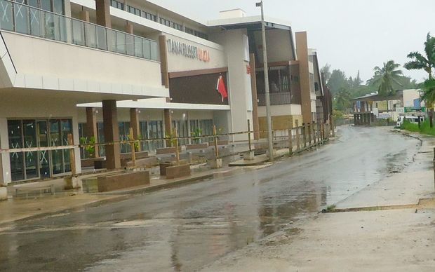 Streets in Port Vila were deserted on Friday.