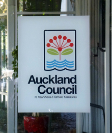 030314. Photo Todd Niall / RNZ. Auckland Council sign