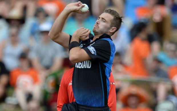 Tim Southee - Cricket World Cup, New Zealand versus Bangladesh in Hamilton