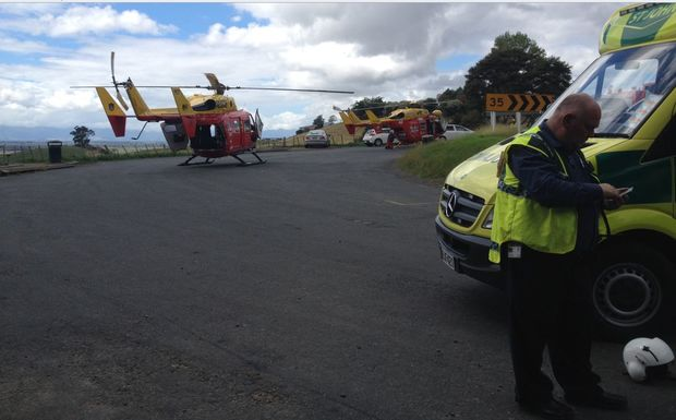 The Waikato Westpac Rescue Helicopter was dispatched to SH27, near Kaihere, at to the scene of an accident involving a car and truck.
