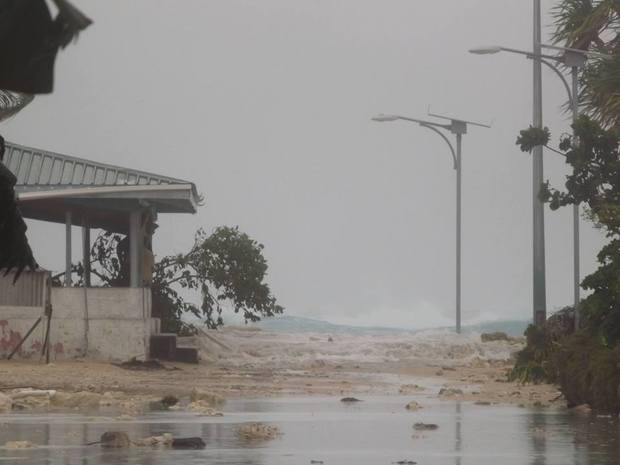 Tuvalu - tidal surges caused by cyclone Pam