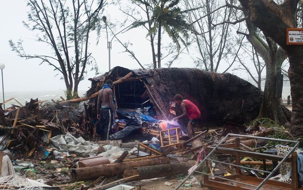 The aftermath of Cyclone Pam