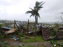 View of the destruction wrought by Pam in Vanuatu's capital Port Vila.