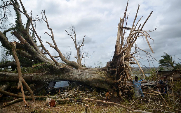 Damage around Freshwota, Port Vila.