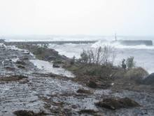 The storm in the Chatham Islands today has damaged a wharf and knocked out power to some households.