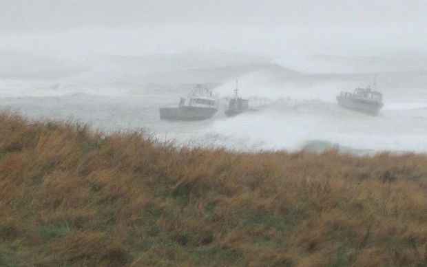 A photo posted on Facebook shows the storm in the Chatham Islands today.