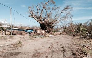 The first images emerge of destruction in Tanna, Vanuatu, after Cyclone Pam.