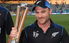 Black Caps captain Brendon McCullum with the Chappell-Hadlee trophy, is there more silverware to come for the New Zealand cricketers?