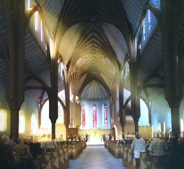 Sir Miles Warren's design for the cathedral incorporates modern and Gothic-style elements.