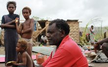 Narua Joe Kwane is the chief of what used to be a village called Taunono, near Port Vila, before cyclone PAM hit Vanuatu on 13 March 2013. All houses have been destroyed.